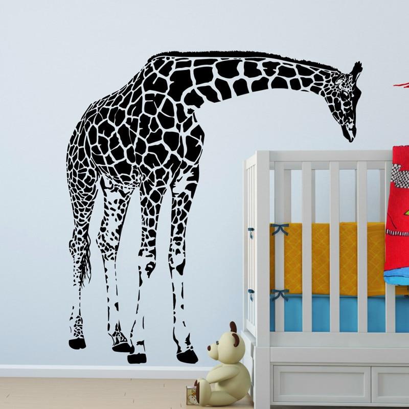 Large Giraffe Wall Decal Vinyl Sticker