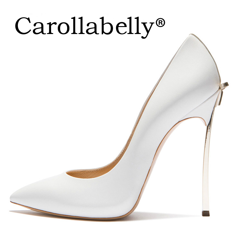 8cm/10cm/12cm High Quality  Sexy Women Pumps Pointed Toe Shoes Bowtie Thin High Heels Wedding Shoes Pumps Party Shoes