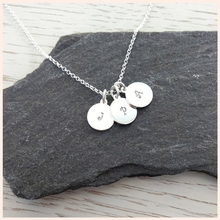 StrollGirl 925 Sterling Silver Personalized Customization Disc Necklace Engraved Family & Name Signature Jewelry