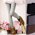 2016 Fashion Stretch Point Stripe Pantyhose 4 Colors Printed Women Collants Sexy Skinny Tights High Elasticity