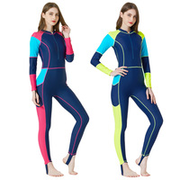 Sbart Rash Guard Women One Piece Swimsuit Long Sleeve Female Swimwear Surfing Windsurf Sailing Full Bathing Suit Wetsuits DBE