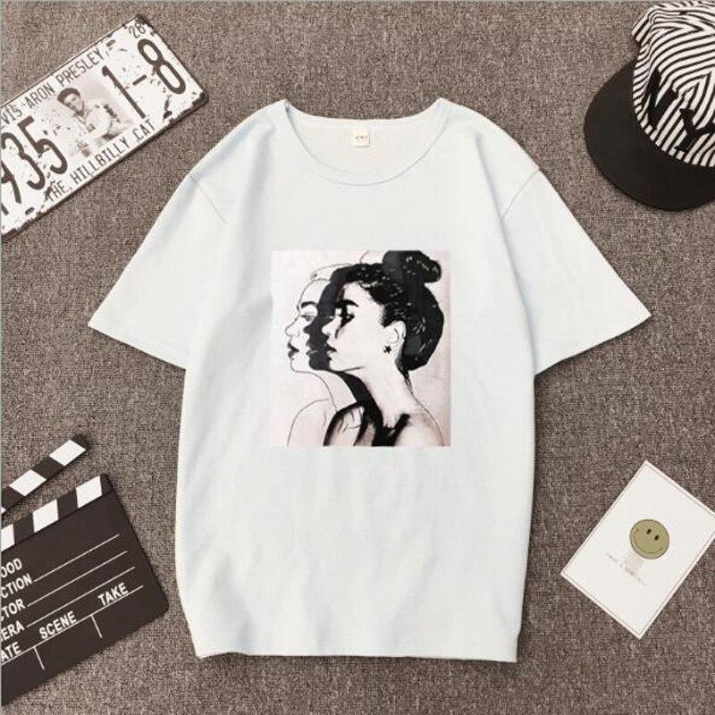 Girls Print Short Sleeve O Neck Cotton Spandex Women Top  4