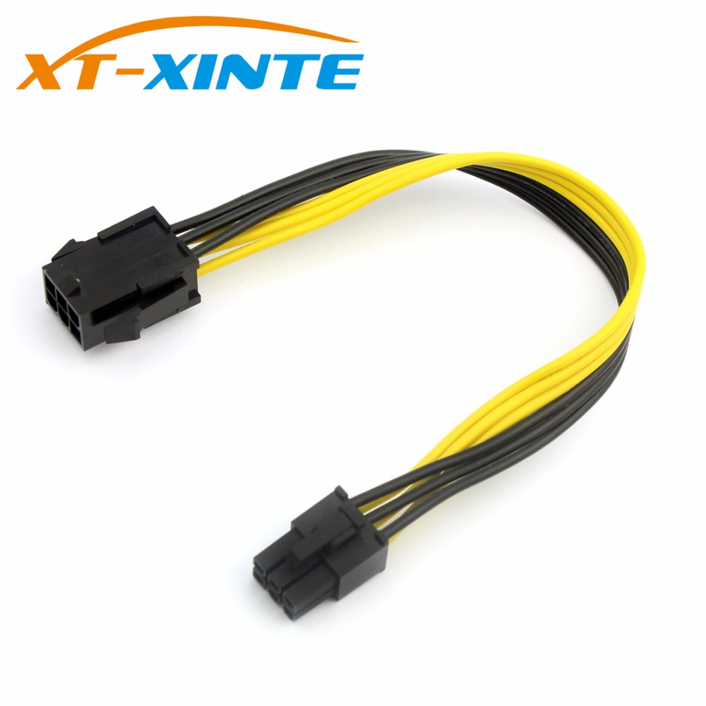 PCIE 6Pin to 6Pin Power Supply Cable Extension Adapter 6Pin Extender Miner Cable Male to Male Wire Cord 20cm for PC Mining formulamod pci 6pin motherboard power extension cable 18awg 6pin extension cable for water cooling computer fmpci6p c