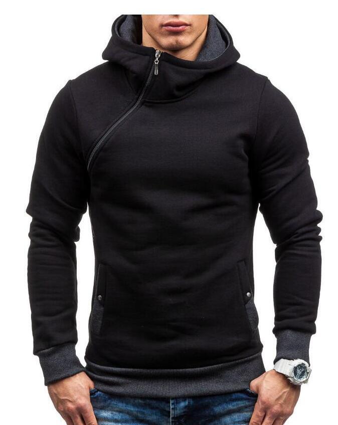 HEYKESON Brand 2017 Hoodie Oblique Zipper Solid Color Hoodies Men Fashion Tracksuit Male Sweatshirt Hoody Mens Purpose Tour XXL HEYKESON Brand 2017 Hoodies, with an chest Zipper HTB1sxVscLNZWeJjSZFpq6xjBFXaS