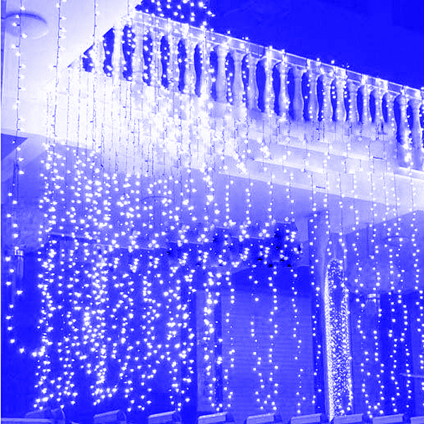3M x 1.5M 300 LED Wedding Light icicle Christmas Light LED String Fairy Light Garland Birthday Party Garden Curtain Decor P22