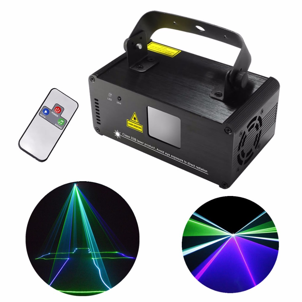 AUCD Mini Remote Sound 8 CH DMX Green Blue Cyan GBC Laser DPSS Stage Lighting Scanner DJ Party Show Projector Light DM-GBC200 ...