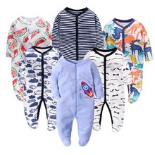 6PCS/Lot Newbron winter Baby Rompers Long Sleeve set cotton baby junmpsuit girls ropa bebe boy girl clothes