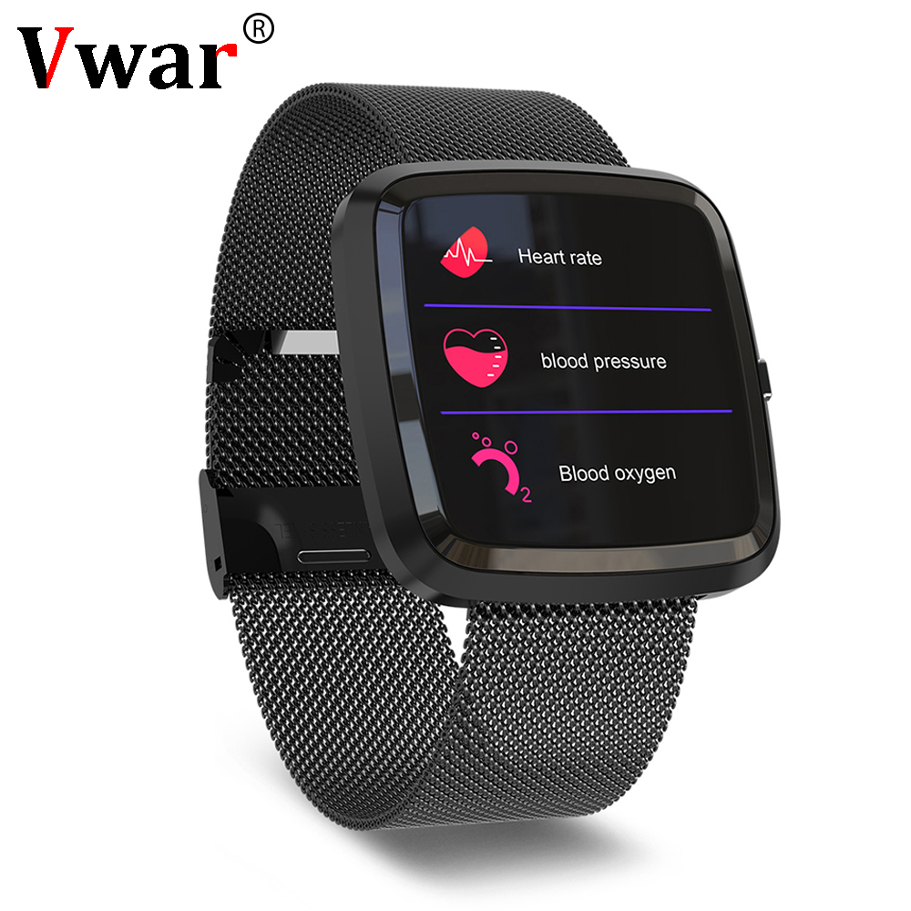Vwar T52 Smart Watch Heart Rate Blood Pressure Monitor IP67 Waterproof Fitness tracker SmartWatch Versa for