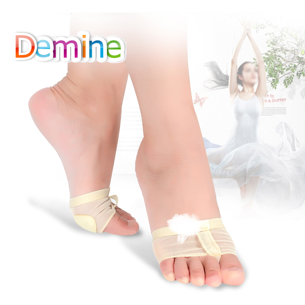 Demine Women Professional Dance Forefoot Socks Belly Ballet Dance Gym Protector Paws Metatarsal Forefoot Half Nursing Shoes Pads цена