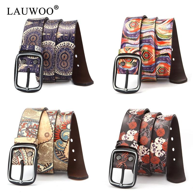 LAUWOO Women Belt Luxury Brand Genuine ls