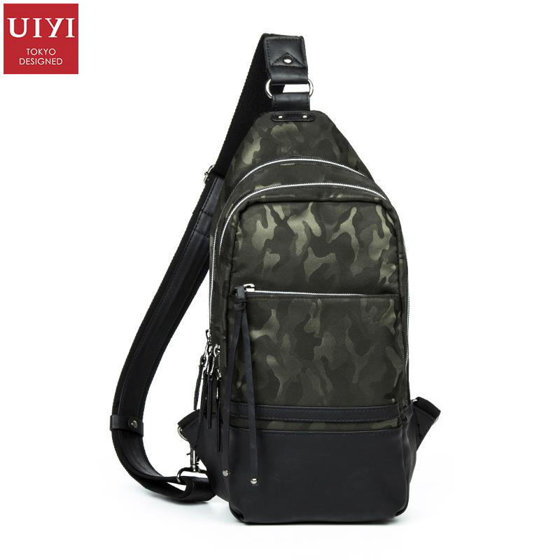 ФОТО UIYI Brand Handbag Man PU Leather Camouflage Single Shoulder Messenger Bag For Men Korea Style Chest Satchel Bags 150094