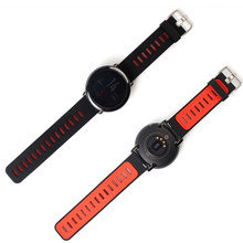 Silicone Strap for Amazfit Stratos 2 22mm Band for Xiaomi Huami Watch 2 Smart Accessories black red Color Replacement Band(China)