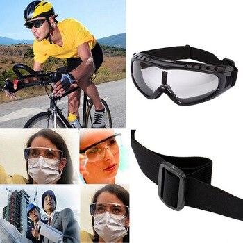 b9970686f6 Transparente Unisex gafas de seguridad de la motocicleta ciclismo gafas de  protección ocular de Paintball táctico