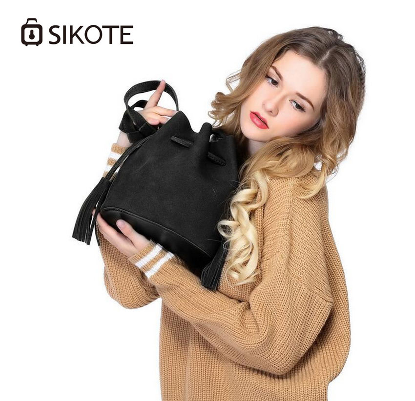 SIKOTE Ladies bag .2017 new female package fashion bucket bag, Messenger bag shoulder bag