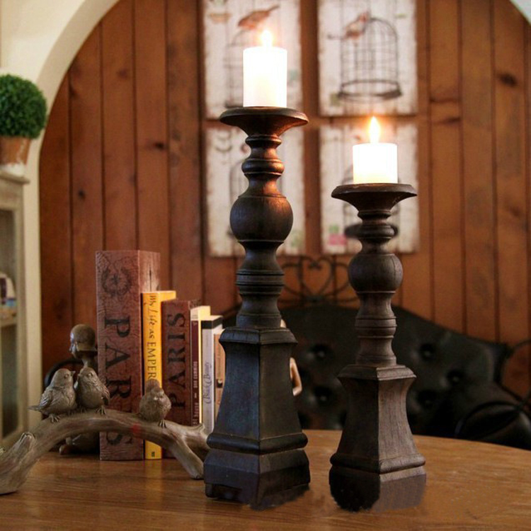 nostalgic loft ancient Roman column candlestick household soft outfit coffee shop window decoration furnishing articles