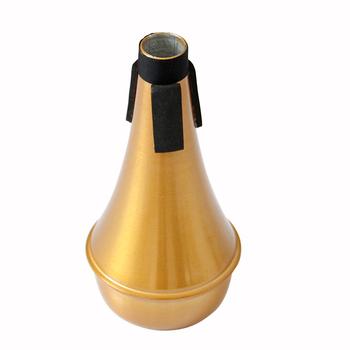 MUKU trąbka wyciszenie akcesoria trąbka tłumik wstępny z korpus ze stopu Aluminium ogólne wyciszenie dla wszystkich rodzajów trąbki tanie i dobre opinie gold trumpet mute other silencer aluminium alloy aluminium alloy mute