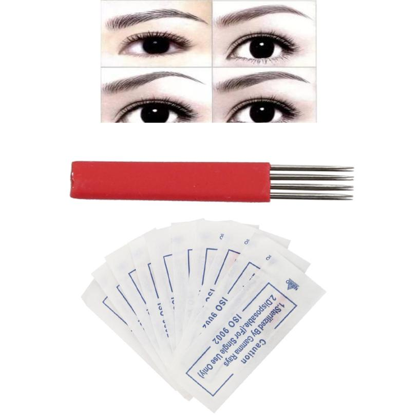 Beauty & Health Able 10pcs Stainless Steel Makeup Eyebrow Tattoo Needle Semi Permanent Microblading Eyebrow 4 Rows Round 3 Needles 3ju15 Let Our Commodities Go To The World