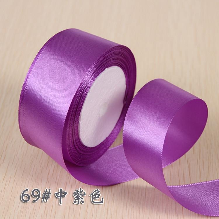 6 мм 1 см 1,5 см 2 см 2,5 см 4 5 см атласными лентами DIY искусственный шелк розы Ремесла поставок швейной фурнитуры Скрапбукинг материал - Цвет: Фиолетовый