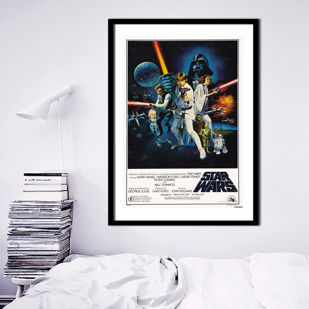 viejo estilo de star wars pintura canvas art print poster pared cuadros para la decoracin de