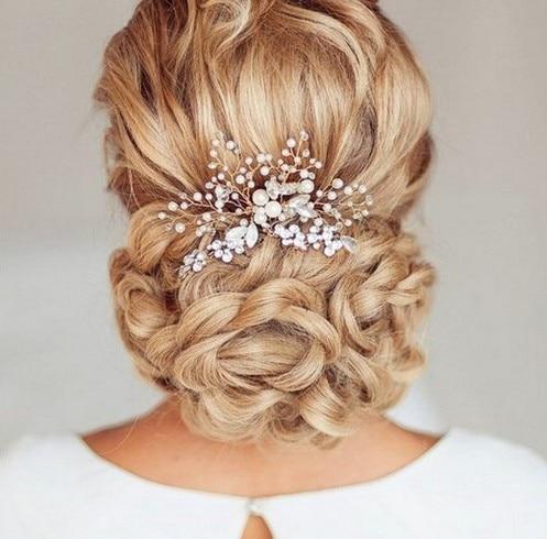 rhinestone bridal comb bride wedding