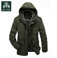 AFS JEEP Detachable Inner 3xl 4xl Thickness Cashmere Inner Long Coat Winter Stay Warm 100 Cotton
