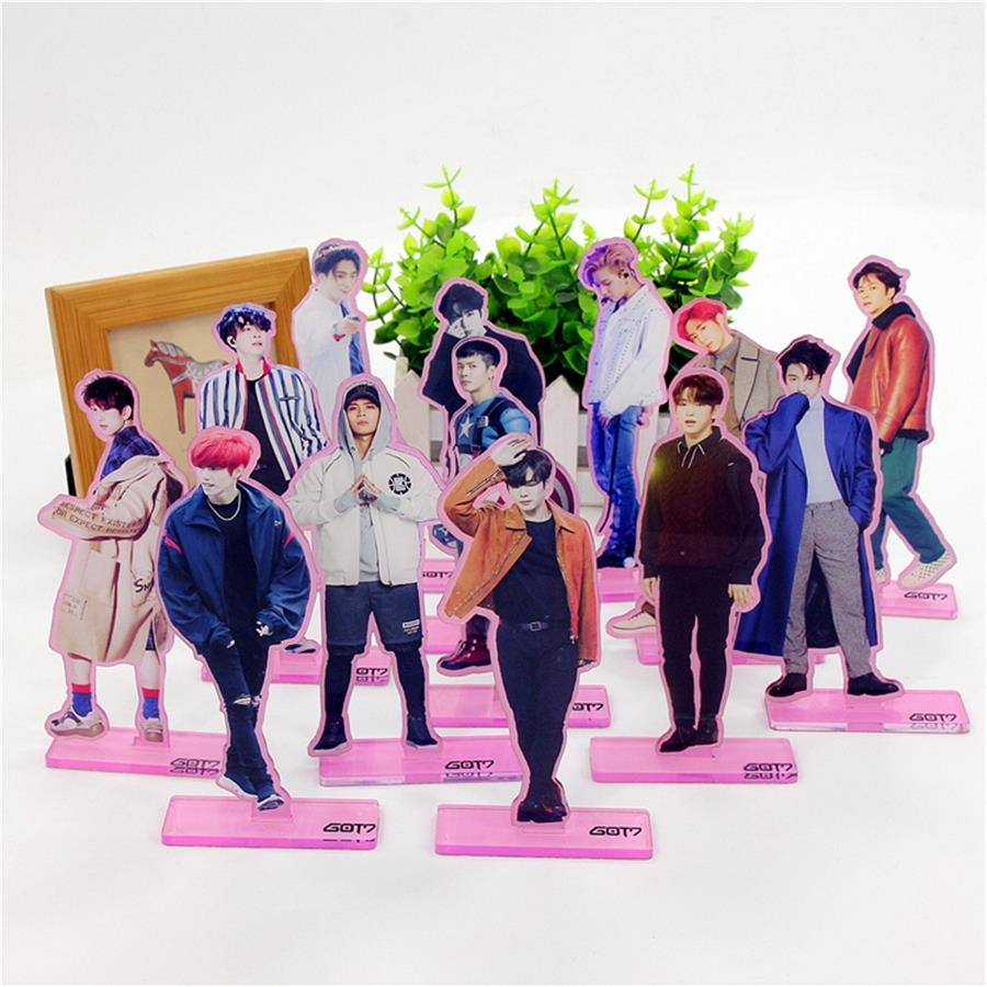 Confident Kpop Got7 Acrylic Standee Figure Doll Jackson Mark Youngjae New Fashion Standing Action Table Desktop Decor Jewelry Findings & Components