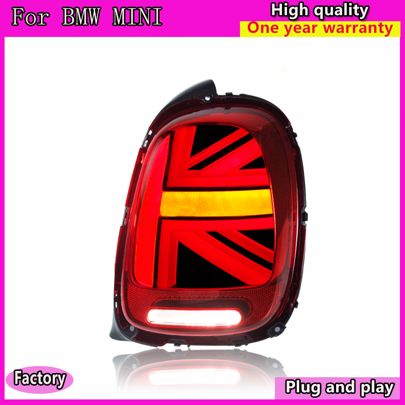 Car Styling for BMW MINI F55 F56 F57 Tail Lights 2013-now for MINI Rear Light DRL+Turn Signal+Brake+Reverse LED lights YIAALUX