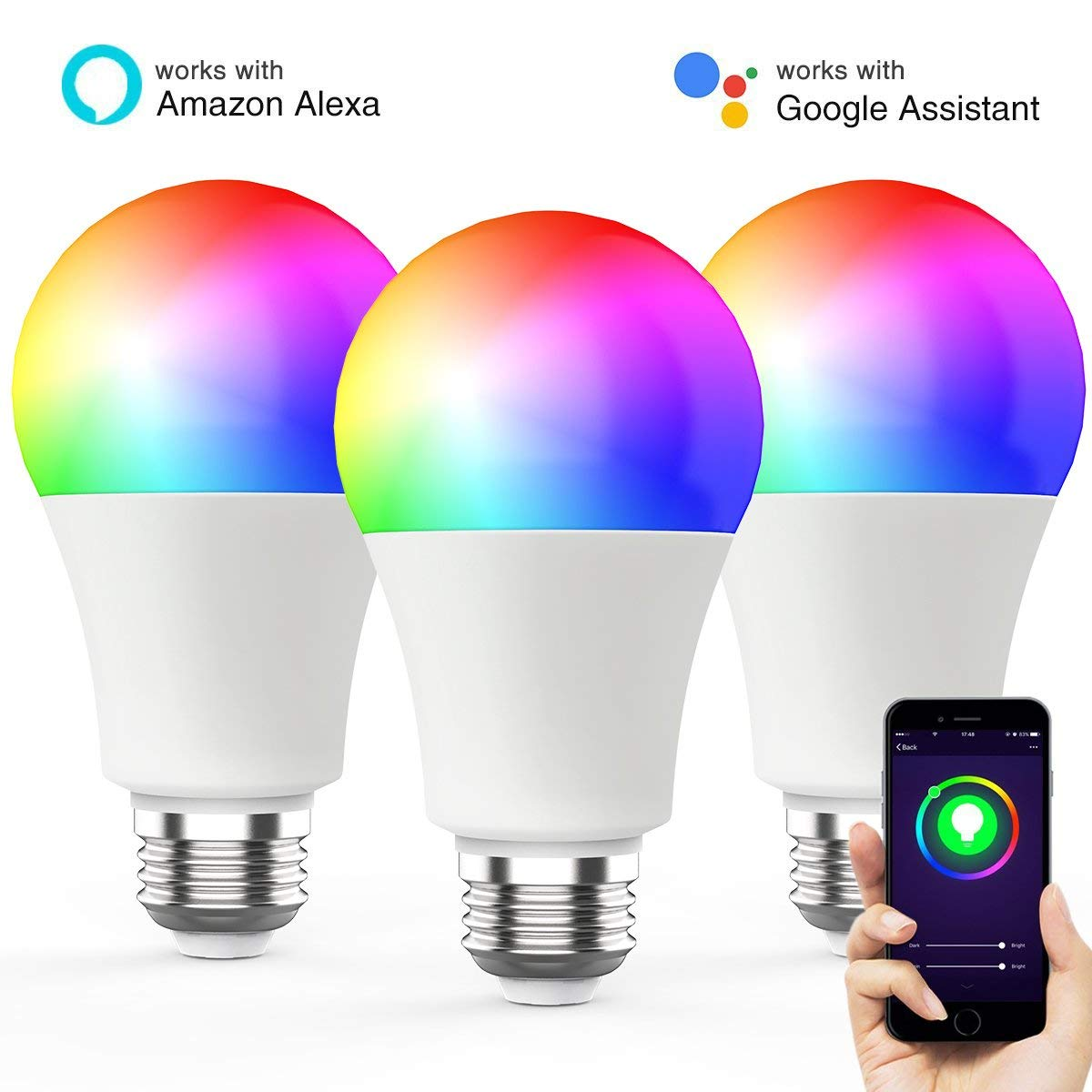 60w Light Bulb Us 39 55 8 Off Wi Fi Smart Led Light Bulb Lamp E26 Rgbcw 7w 600lm 60w Equivalent Dimmable Homekit Work With Amazon Alexa And Google Home 3 Pack In