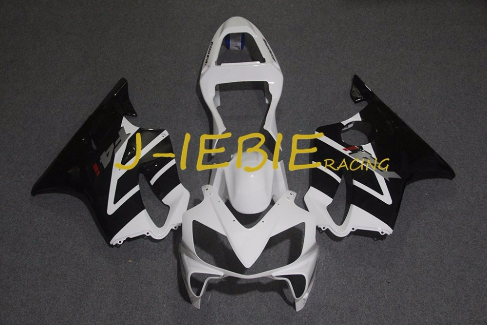 Black white Injection Fairing Body Work Frame Kit for HONDA CBR600 CBR 600 CBR600F F4I 2001 2002 2003