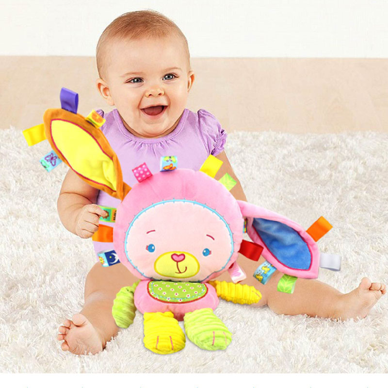 Happy Monkey Baby Toys Infant Animals Dolls Kids Rattles Soft Plush Toys Elephant Rabbit Lion 8 styles Infant Toys Wholesale