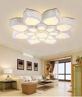 Lotus кристалл светодиодный потолочный светильник дома Гостиная Спальня Кабинет Ресторан огни коммерческих мест освещения потолочный свети