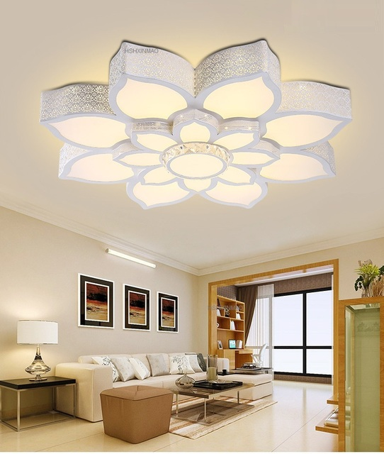 Lotus crystal led ceiling lamp home living room bedroom study lotus crystal led ceiling lamp home living room bedroom study restaurant lights commercial places illumination ceiling aloadofball Images