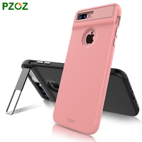 PZOZ For Iphone 7 Cover For Iphone 7 Plus Silicone Case Luxury Stand Holder Slim Phone