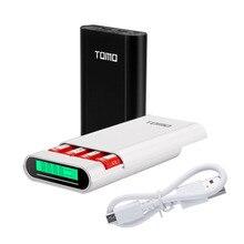 Tomo m4 스마트 전원 충전기 전원 은행 케이스 4x18650 리튬 이온 배터리 휴대용 diy powerbank 상자 충전기 18650 배터리