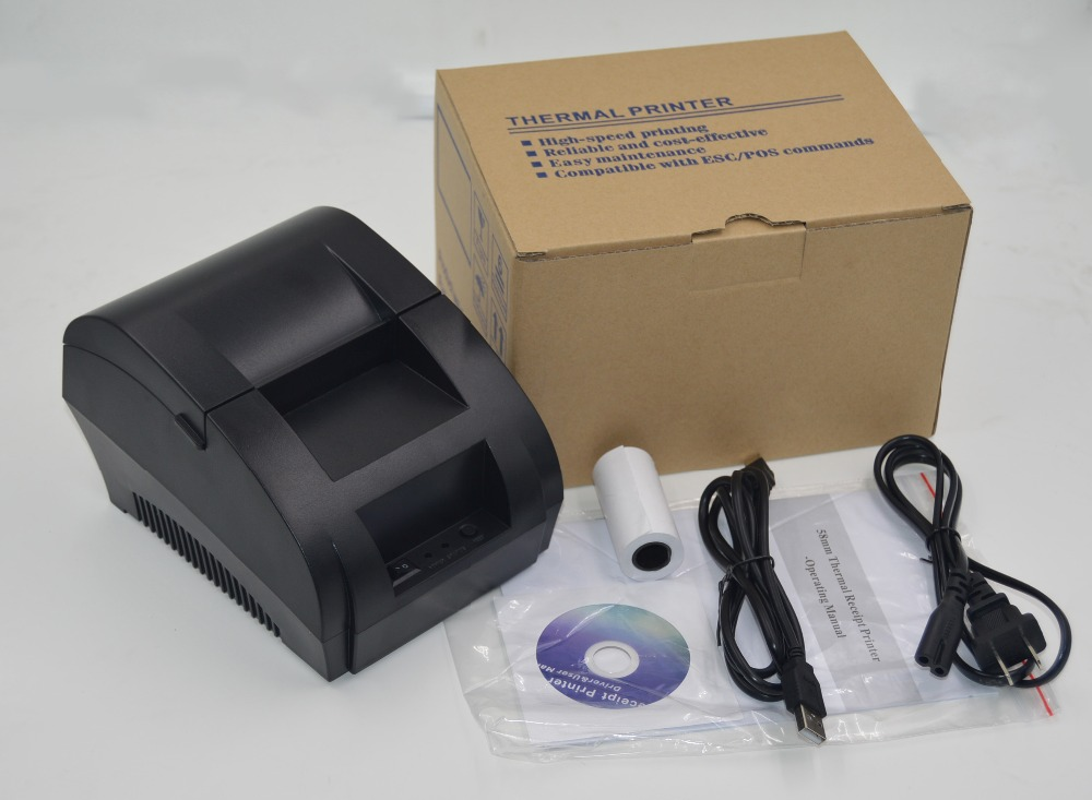 freeshipping black USB Port 58mm thermal Receipt pirnter POS printer low noise.printer thermal 2017 new arrived usb port thermal label printer thermal shipping address printer pos printer can print paper 40 120mm
