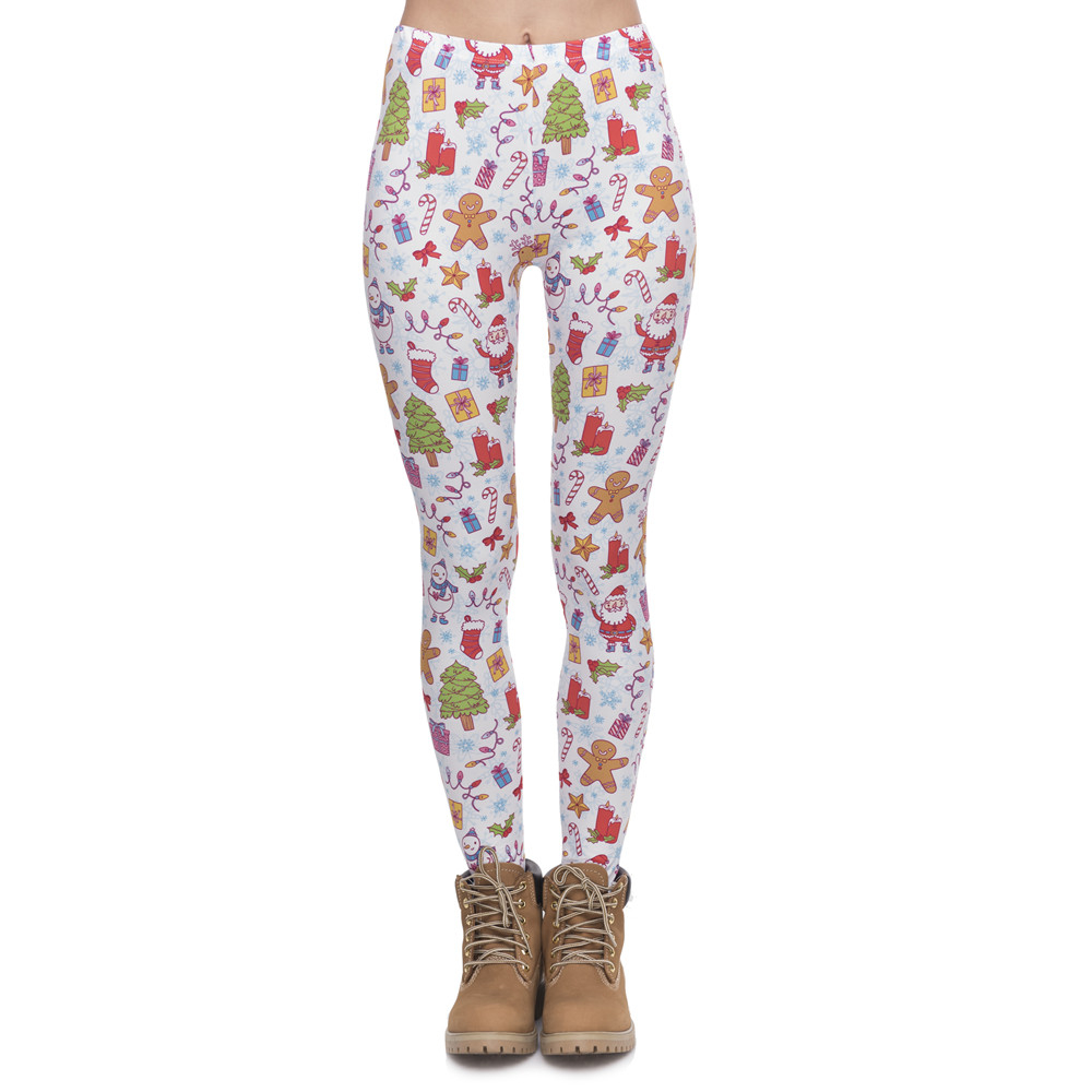 New Arrival Women Legging Christmas Gifts Printing Fitness Leggings Fashion Elegant High Waist Woman Pants