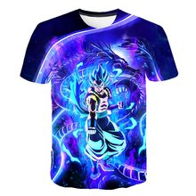 BIAOLUN 2019 Dragon Ball Z Mens T-shirt 3D Print Super Saiyang Boys Goku Colorful Zamasu Vegeta Jiren