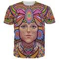 Venda quente Engraçado Impresso Rainha 3D T-shirt Dos Homens Casuais Curto SleeveTee Camisas Hip Hop Estilo Slim Fit Encabeça Verão de 2016 homme
