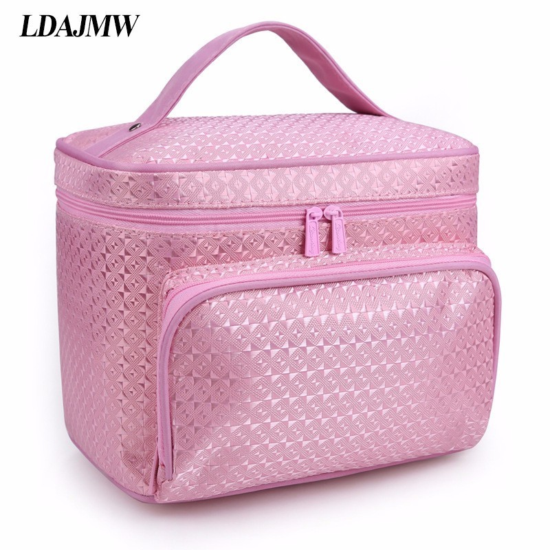 Image 5 - LDAJMW New Arrivals Foldable Cosmetic Bag Makeup Tool Storage Bag Travel Organizer Large Capacity Toiletry Bag-in Storage Bags from Home & Garden