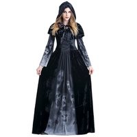 Vampire Costume Demon Evil Witch Costume Red Devil Costume Role Play Adult Women Witch Halloween Fancy Dress