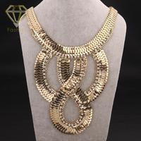 Christmas Gift Przesady Rocznika Złoty Kolor z Kryształ Mix Egipski Naszyjnik Łańcuch Biżuteria dla Kobiet Strony