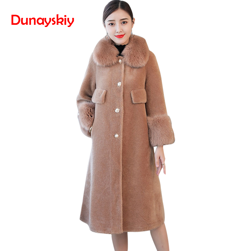 Fashion Hot Sell X-Long Turn-down Collar Single Breasted Coats OL Elegant A Line   Trench   Winter Warm Clothes Solid FauxFur   Trench