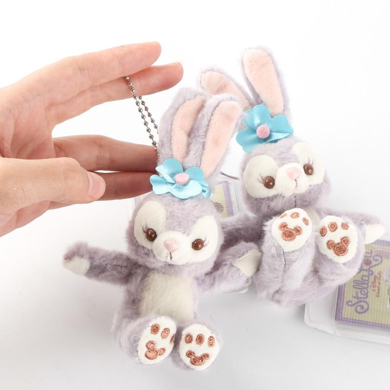 New Cartoon Stellalou Bunny Rabbit Plush Toys Friend of Duffy Bear Soft Stuffed Animal Dolls Small Pendant For Kids Girls Gifts stuffed toy