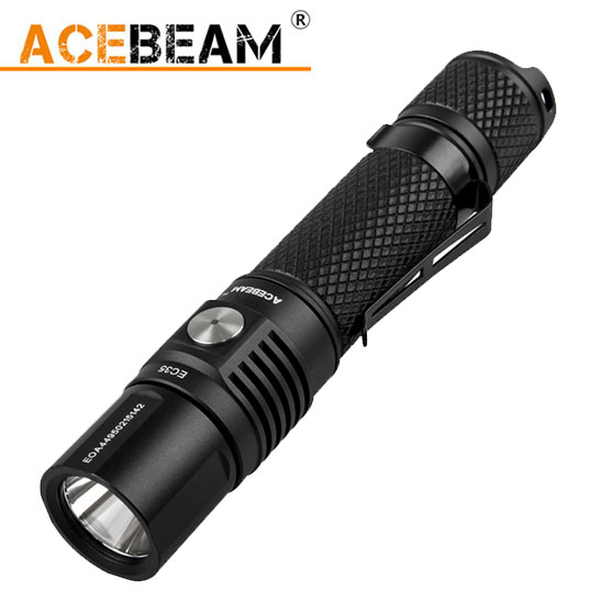 2016 ACEBeam EC35 1200LM CREE XPL LED Flashlight Torch Use 1x 18650 or 2x CR123A or2x 16340 Battery niteye ec r26 cree xpl 1080lm rechargeable led flashlight torch
