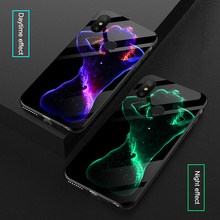 Luminous Sexy Body Art Glass Cases For Xiaomi