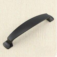 kitchen cabinet handle pull 5″ balck drawer dresser cupboard door pull knob 128mm modern simple black furniture decorate handles