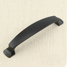 kitchen cabinet handle pull 5″ balck drawer dresser cupboard door pull knob 128mm modern simple black furniture decorate handles