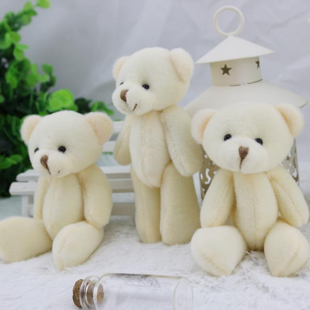 07af091a723 60pcs wholesale 12CM white jointed mini teddy bear small teddy bear   cartoon bouquet toy wedding gifts-in Stuffed   Plush Animals from Toys    Hobbies on ...