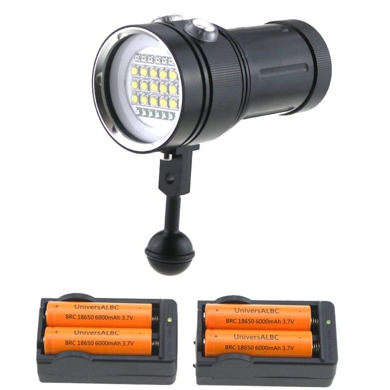BCMSJVH 25000LM Vidéo Sous-Marine Plongée lampe de Poche 15x Cree XML2 Blanc lumière + 6 Bleu/UV lumière + 6 Rouge Lumière de Plongée Torche Lanternas