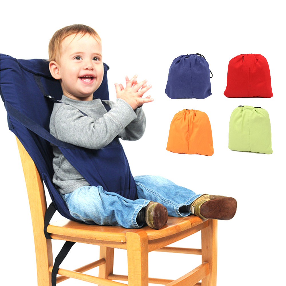 Colorful Baby Portable Seat Kids Dining Lunch Chair Infant Feeding Safety Seats Washable Children Feeding High Chair Harness